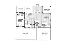 Contemporary Floor Plan - Main Floor Plan Plan #569-38