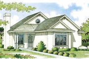 Mediterranean Style House Plan - 2 Beds 1.5 Baths 984 Sq/Ft Plan #45-101 Exterior - Front Elevation