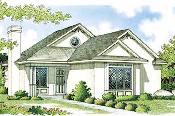 Mediterranean Exterior - Front Elevation Plan #45-101