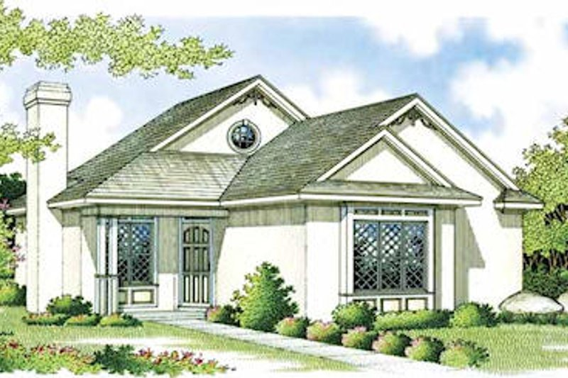 Mediterranean Style House Plan - 2 Beds 1.5 Baths 984 Sq/Ft Plan #45-101