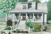 Country Style House Plan - 3 Beds 2 Baths 1397 Sq/Ft Plan #17-2310 Exterior - Front Elevation