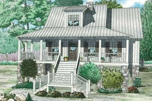 Country Exterior - Front Elevation Plan #17-2310
