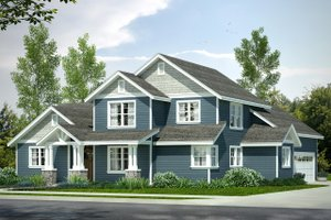 Country Exterior - Front Elevation Plan #124-1022