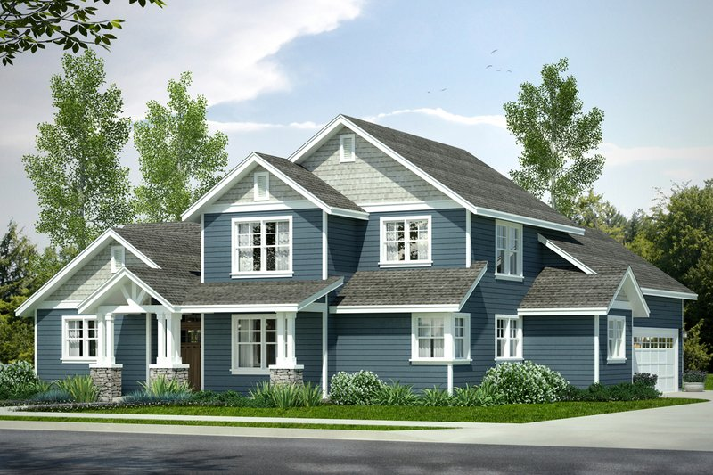 Dream House Plan - Country Exterior - Front Elevation Plan #124-1022
