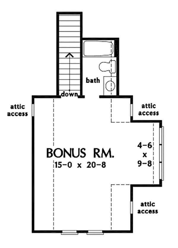 Farmhouse Floor Plan - Upper Floor Plan Plan #929-1086
