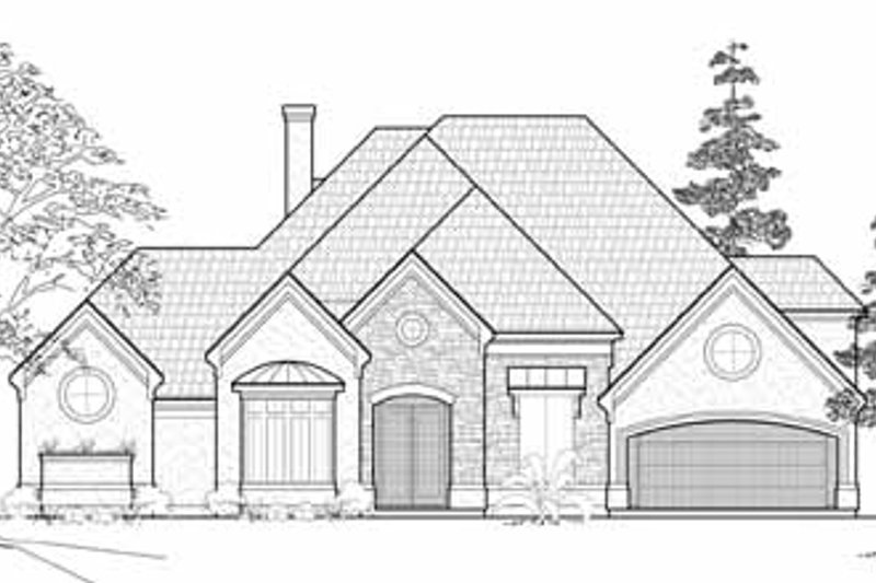 European Exterior - Front Elevation Plan #61-264 - Houseplans.com