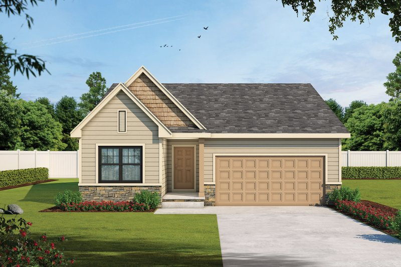 Traditional Style House Plan - 2 Beds 2 Baths 1390 Sq/Ft Plan #20-2433