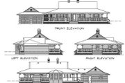 Country Style House Plan - 3 Beds 2 Baths 1541 Sq/Ft Plan #47-186 Exterior - Rear Elevation