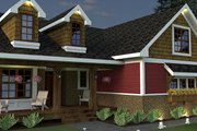 Craftsman Style House Plan - 3 Beds 2 Baths 2034 Sq/Ft Plan #51-520 Exterior - Other Elevation