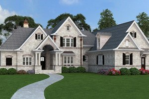 Dream House Plan - European Exterior - Front Elevation Plan #119-420