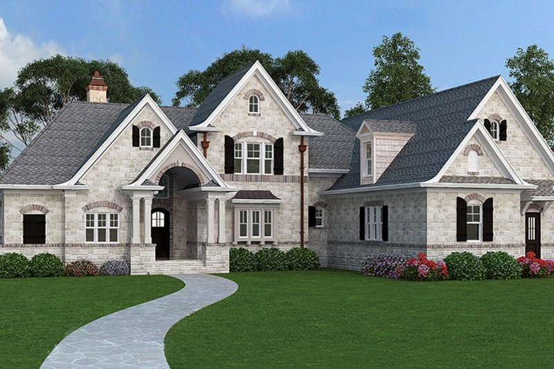 Architectural House Design - European Exterior - Front Elevation Plan #119-420
