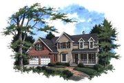 Traditional Style House Plan - 3 Beds 2.5 Baths 1984 Sq/Ft Plan #41-144 Exterior - Front Elevation