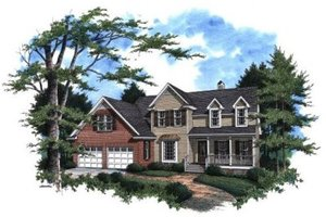 Architectural House Design - Traditional Exterior - Front Elevation Plan #41-144