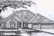 Traditional Style House Plan - 3 Beds 2.5 Baths 2385 Sq/Ft Plan #310-830 Exterior - Front Elevation