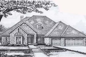 Traditional Exterior - Front Elevation Plan #310-830