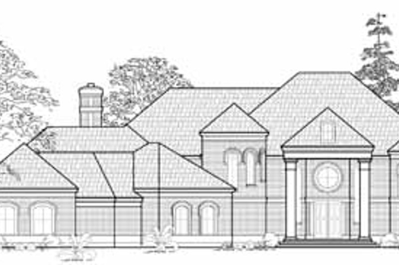 Traditional Exterior - Front Elevation Plan #61-308