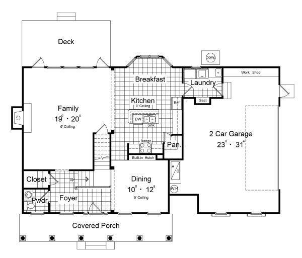 Architectural House Design - Classical Floor Plan - Main Floor Plan #417-207