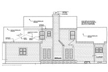 Home Plan - Colonial Exterior - Rear Elevation Plan #3-248