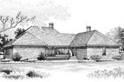 Southern Style House Plan - 3 Beds 3.5 Baths 3623 Sq/Ft Plan #45-214 Exterior - Rear Elevation