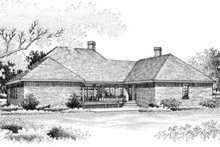 Southern Exterior - Rear Elevation Plan #45-214