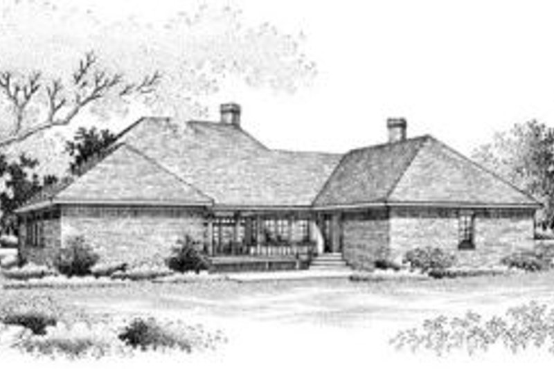 Southern Exterior - Rear Elevation Plan #45-214 - Houseplans.com