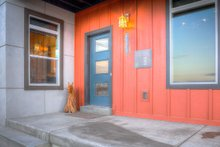 Contemporary Exterior - Covered Porch Plan #20-2205