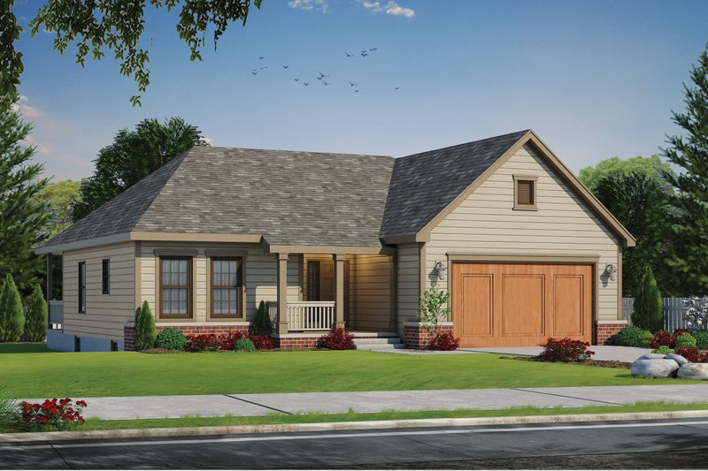 Country Exterior - Front Elevation Plan #20-2226