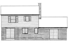 House Blueprint - Traditional Exterior - Rear Elevation Plan #72-200