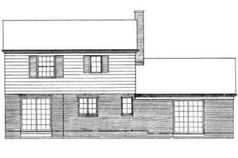 Traditional Exterior - Rear Elevation Plan #72-200 - Houseplans.com