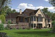 European Style House Plan - 4 Beds 4.5 Baths 5575 Sq/Ft Plan #48-654 Exterior - Rear Elevation