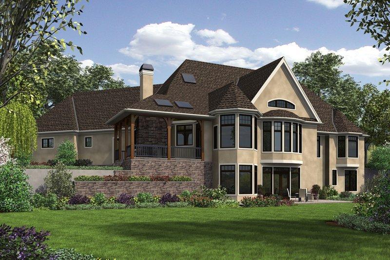 European Exterior - Rear Elevation Plan #48-654 - Houseplans.com