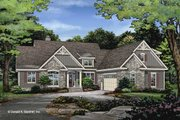 Craftsman Style House Plan - 4 Beds 3 Baths 2277 Sq/Ft Plan #929-1047 Exterior - Front Elevation