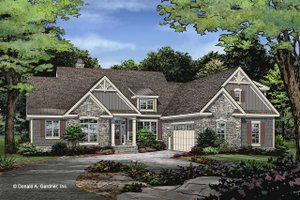 Dream House Plan - Craftsman Exterior - Front Elevation Plan #929-1047