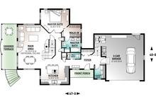 Traditional Floor Plan - Main Floor Plan Plan #23-422