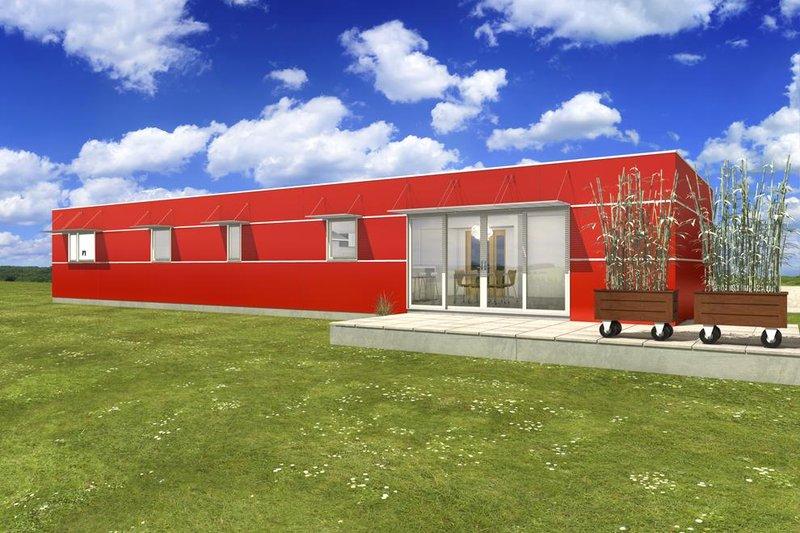 House Design - Modern Exterior - Front Elevation Plan #497-27