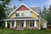 Craftsman Style House Plan - 3 Beds 2.5 Baths 2377 Sq/Ft Plan #132-187 Exterior - Rear Elevation