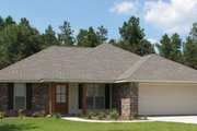 European Style House Plan - 3 Beds 2 Baths 1300 Sq/Ft Plan #430-58 Photo