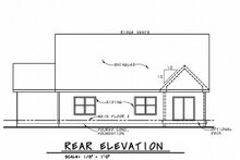 Craftsman Exterior - Rear Elevation Plan #20-2317