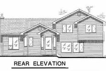 House Blueprint - Traditional Exterior - Rear Elevation Plan #18-258