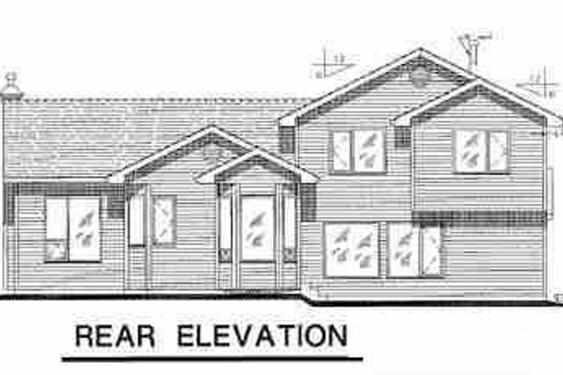 Traditional Exterior - Rear Elevation Plan #18-258 - Houseplans.com