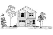 Craftsman Style House Plan - 3 Beds 2 Baths 1672 Sq/Ft Plan #53-520
