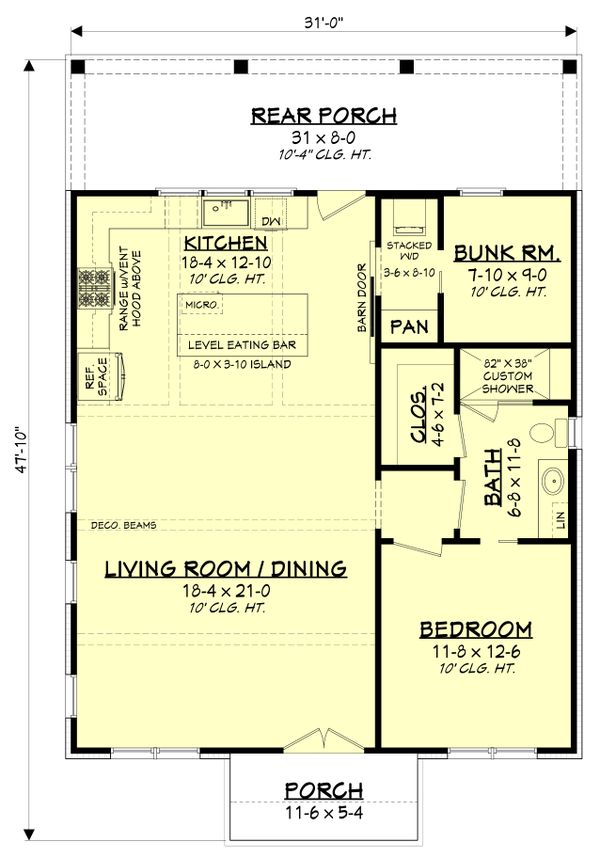 Farmhouse Floor Plan - Main Floor Plan #430-238