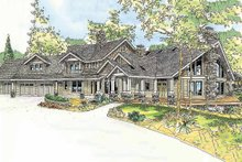 Dream House Plan - Craftsman Exterior - Front Elevation Plan #124-761