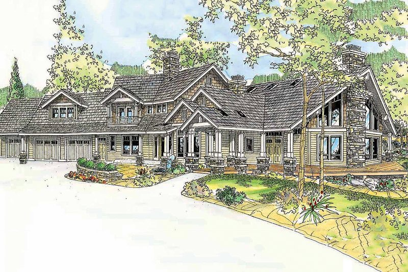 Dream House Plan - Craftsman Exterior - Front Elevation Plan #124-761