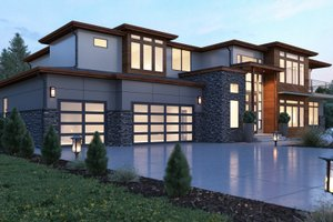 Architectural House Design - Contemporary Exterior - Front Elevation Plan #1066-28