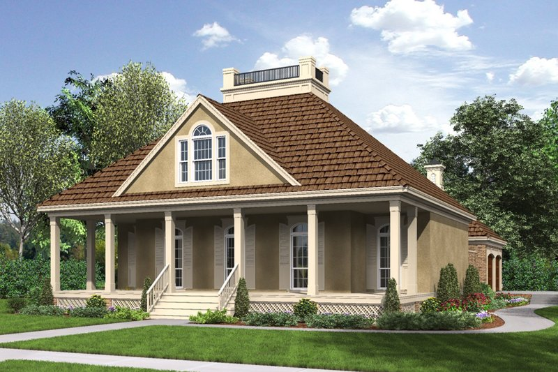 Architectural House Design - Southern Exterior - Front Elevation Plan #45-573
