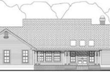 Southern Exterior - Rear Elevation Plan #406-202