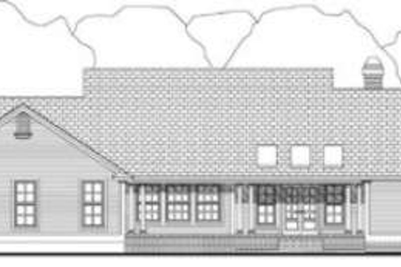 Southern Exterior - Rear Elevation Plan #406-202 - Houseplans.com