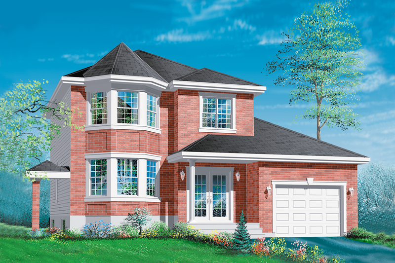European Style House Plan - 3 Beds 1.5 Baths 1539 Sq/Ft Plan #25-2193 Exterior - Front Elevation