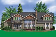 Craftsman Style House Plan - 5 Beds 4.5 Baths 3457 Sq/Ft Plan #48-148 Exterior - Rear Elevation